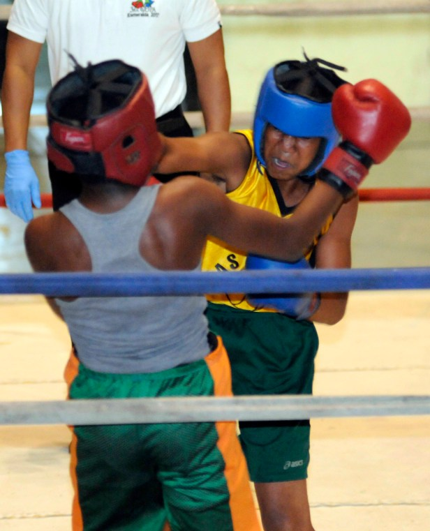 Boxeo en el Teo Cruz
